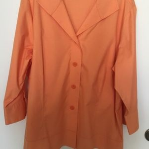 COLDWATER CREEK BEAUTIFUL SHADE OF ORANGE BLOUSE.